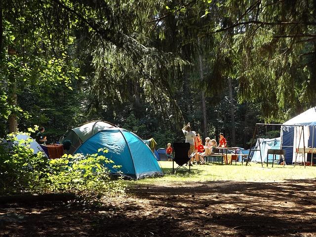 tábor v lese