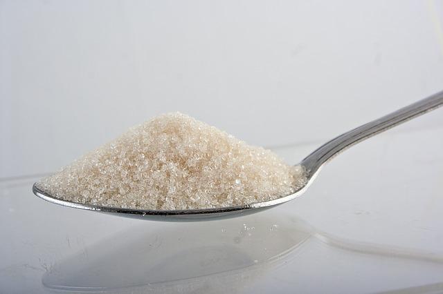 kalorie, cukr na lžíci