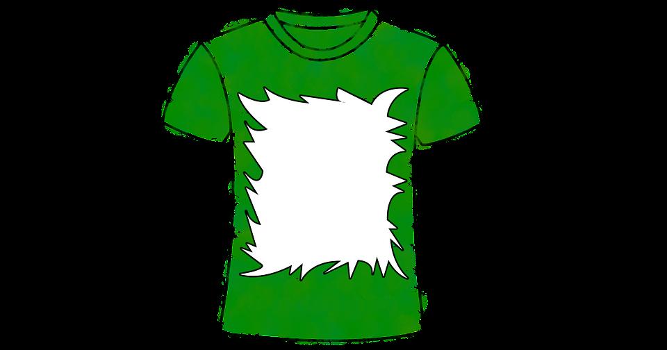 zelené tričko s námětem na tisk